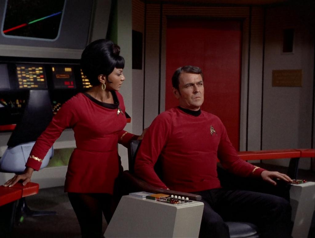 Nichelle Nichols, James Doohan, Star Trek TOS, 'Friday's Child,' 1967