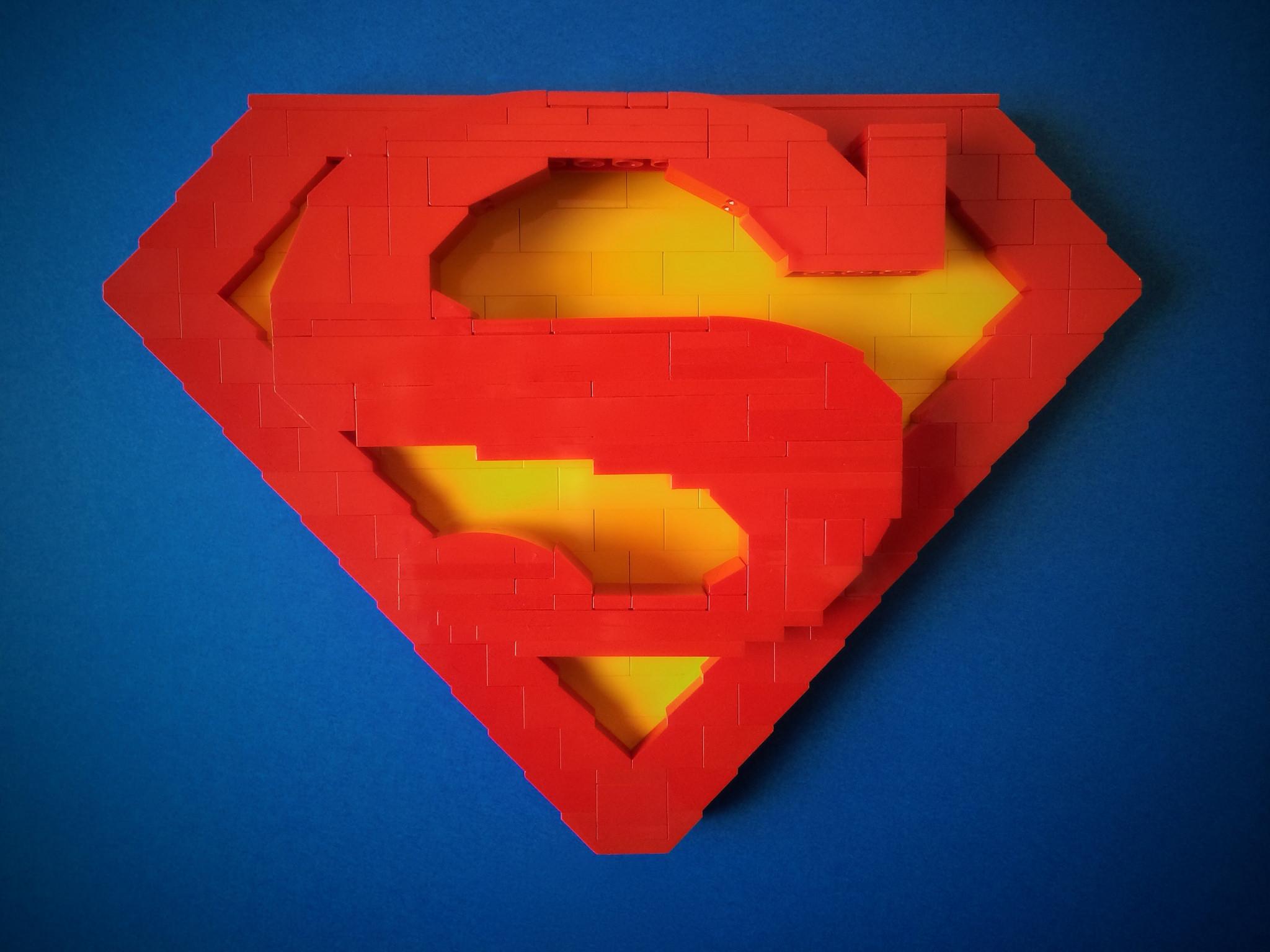 Superman logo with Lego