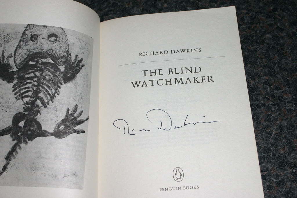 signed copy of The Blind Watchmaker