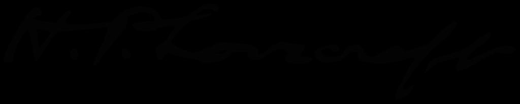 Howard Phillips Lovecraft signature