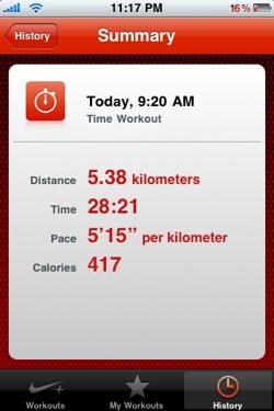 Aplicación de Nike+ para iPod Touch y iPhone