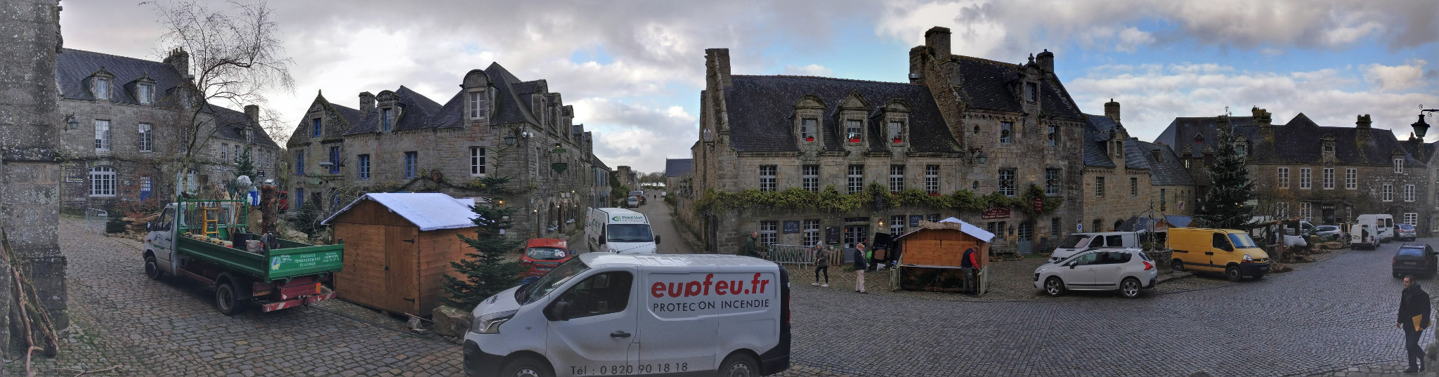 Panoramic of the Place de l'Église in Locronan