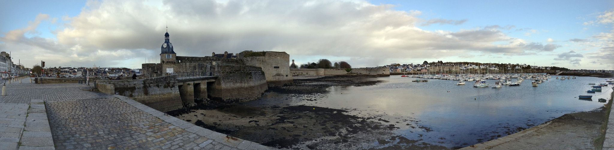 Panoramic of the Ville Close and the Marina of Concarneau